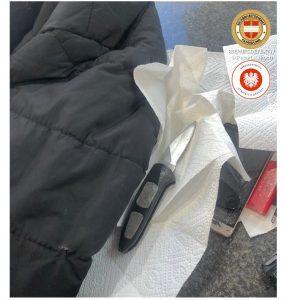 Kaufhausdetektiveinsatz Wien sichergestelltes Messer ist Beweis